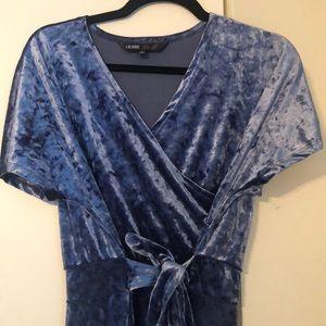 STUNNING blue velvet Lularoe maxi dress. NWOT
